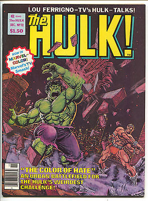 Hulk Magazine 12 Marvel 1978 VF NM Moon Knight Joe Jusko Doug Moench