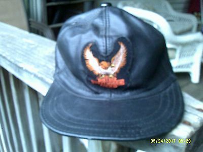 HARLEY DAVIDSON BIKER Baseball cap hat genuine leather -  24.99 ... e1c17574d26