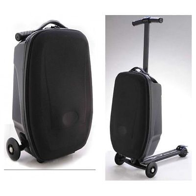 Suitcase Scooter Cabin Approved Travel Trolley Luggage Wheeled Flight Bag Case