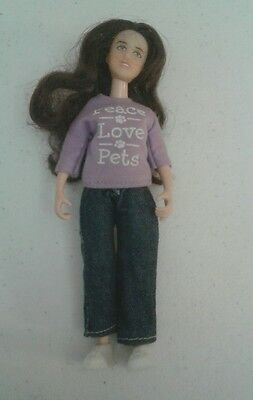 """Breyer Horses  Doll with shirt that says """" Peace Love Pets"""""""