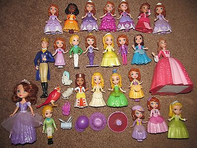 Disney Sofia the First Family Amber Ruby Hildegard Mermaid Castle Figure Lot