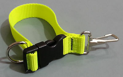Sav-A-Jake Firefighter Glove Strap - Quick Release Clip - Hot Yellow