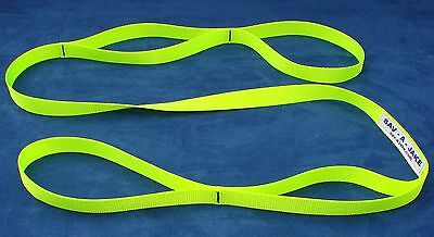 Firefighter Rescue Strap Sav-A-Jake - 6 ft. 4,000 lb. Nylon - Hot Neon Yellow