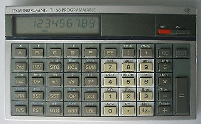 Vintage c. 1983 Texas Instruments TI-66 Programmable Calculator Working