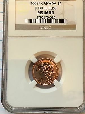 2002 Ngc Graded Ms 66 Red Jubilee Bust One Cent