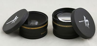 58mm XIT Pro 2.2x Telephoto + 0.43x Wide Angel lens for Canon Nikon Sony lenses
