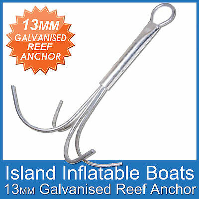 REEF ANCHOR ✱ 13mm 4 Prong ✱ Hot dipped Fully Galvanised. 4 Boats over 6 Metres