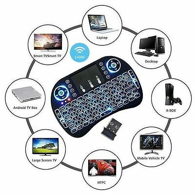 Mini i8 2.4GHz Wireless Keyboard with Touchpad for smart TV PC android LOT GKSN
