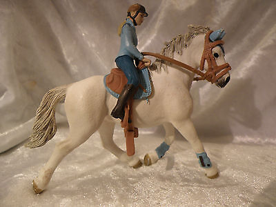 Schleich Tournament Rider Blue Trim Horse And Rider Nice See Pictures