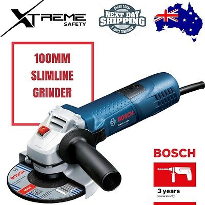 New Bosch 100mm Slimline Angle Grinder With 3 Grinding Discs Included