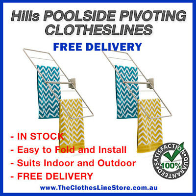 Hills TWO Poolside, Swim Spa & Sauna Pivoting Clothesline RUN OUT SPECIAL!!!!