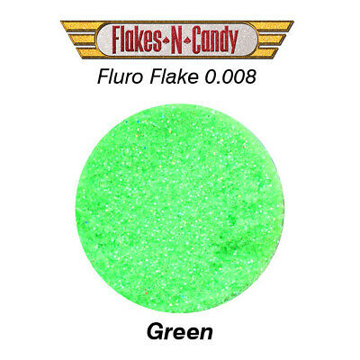 Metal Flake Hologram Flake Glitter (0.008) Paint Flakes 30G Fluro Green