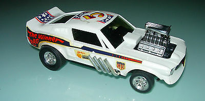 Scalextric Slot car Exin. Vintage Ford Mustang Dragster White Ref 4049