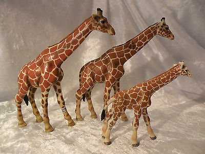 Schleich World Of Nature Giraffe Family Wildlife 2003 Very Nice Lot Of 3