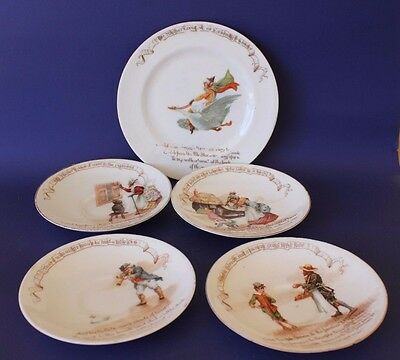 Vintage Antique Royal Doulton Nursery Rhymes plates.