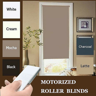 Free shipping New 100% Blackout Motorized Roller Blinds With Dooya Motor DM25TE