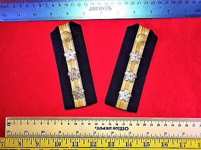 Original Pair Imperial Japanese Navy Lieutenant Rank Uniform Shoulder Boards