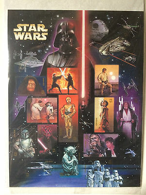 Star Wars USPS 15 Postage Stamp Set Episodes 1 - 6  MINT, SEALED