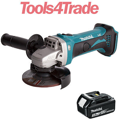"Makita DGA452Z 18v 4.5"" 115mm Li-ion Angle Grinder Body With 1 x 3.0Ah Battery"