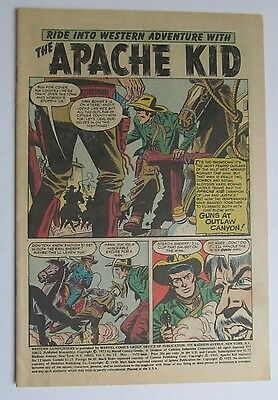 Vol. 1 # 15 APACHE KID COVERLESS COMIC 1973 - Bronze Age Good