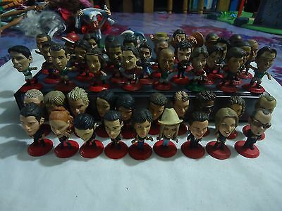 Lot Of 50 Figures Kbzones Coca-Cola Soccer Players And International Singers
