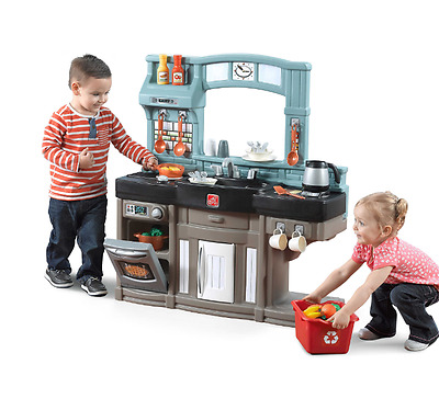 Step 2 Best Chef's Pretend Toy Kitchen Playset Play Food Dishes Accessories