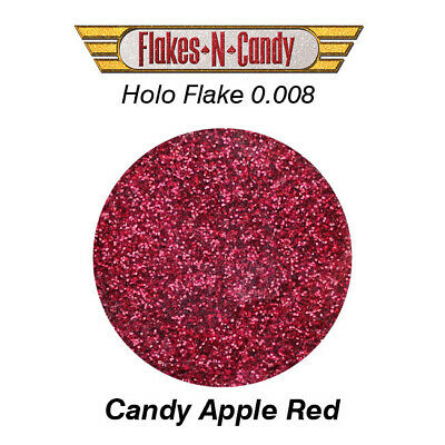METAL FLAKE HOLOGRAM FLAKE GLITTER (0.008) FLAKES-30G HOLO Candy Apple Red