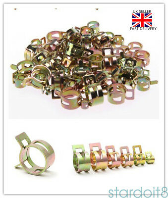 60 Mixed Fuel Line Hose Spring Clip Water Pipe Air Tube Clamps 6/9/10/12/14/15mm