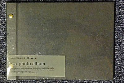 Corban & Blair NEW Medium 23 x 31.5 cm BLACK Photo album 20 sheets