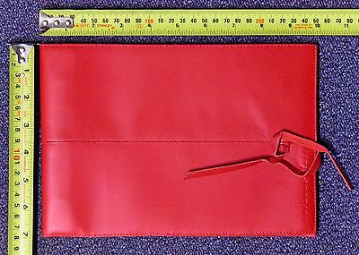 Corban & Blair Leather Small Outback Photo album RED 20 sheets black 16.5 x 23