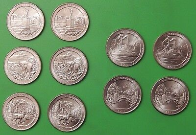2011 US (5P and 5D Marks) National Parks Quarters