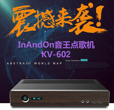 New Type INANDON karaoke player KV-602 with harddisk in. Chinese songs Wifi