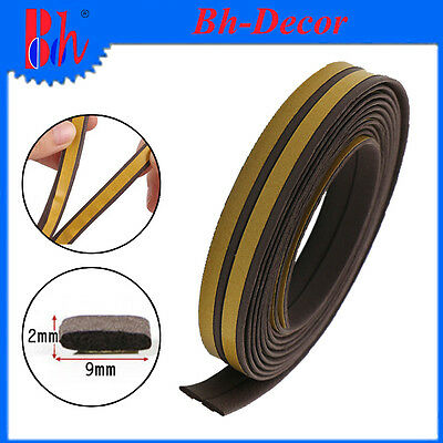 Door Window Rubber Seal Draught Excluders Weather Stripping I Type Self Adhesive