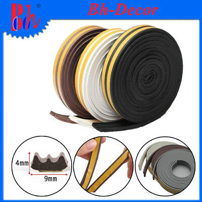 EPDM Seal Weather Stripping Self Adhesive Door Window Draught Excluder E Profile
