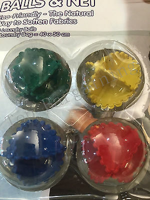 Reusable Tumble Wash Laundry Dryer Ball And Net Set Soften Fabric Cloth Faster