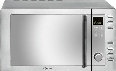Bomann Mwg 2281 Stainless Steel 1300 W Hot Air Microwave Grill Digital Clock