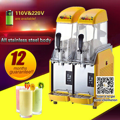 cheap price cold drink slushy machine,smoothie maker with two refrigerants