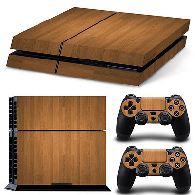 Wood PS4 Playstation 4 Decal Skin Sticker NEW