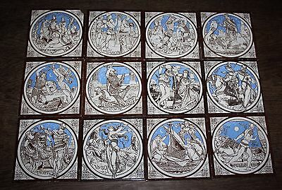 Minton Tiles - John Moyr Smith - Tennyson's Idylls Of The King - Complete -c1875