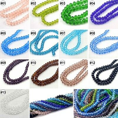 95-100pcs Mixed Colour Synthetic Crystal Gemstone Round Flat Loose Beads 6mm