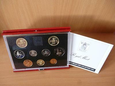 1989 Royal Mint Proof Set Housed In Red Leather Case With C.o.a. Claim £2 In Set