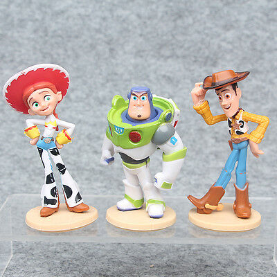 3pcs Toy Story Woody Buzz Figuren Action PVC Figur Kids Boy Party Geschenk Puppe