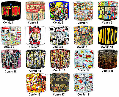Kids Lampshades Ideal To Match Comic Books Duvets & Comic Books Wall Murals
