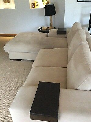 REDUCED sofa with chase and 1 1/2 seater