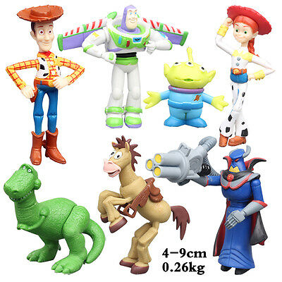 Neu Movie Toy Story Woody Buzz Jessie PVC Action Figur Puppe Geschenk 7pcs Set
