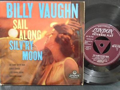"""BILLY VAUGHN E.P """" SAIL ALONG SILVERY MOON """" UK CAPITOL EX+ COND IN Or. PIC SL."""
