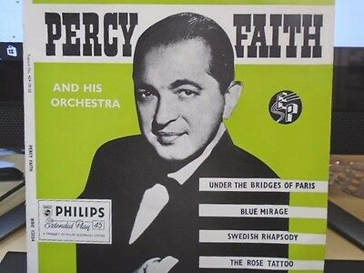"""PERCY FAITH E.P """" AND HIS ORCHESTRA """" UK PHILIPS EX+ COND IN Or. PIC SL."""