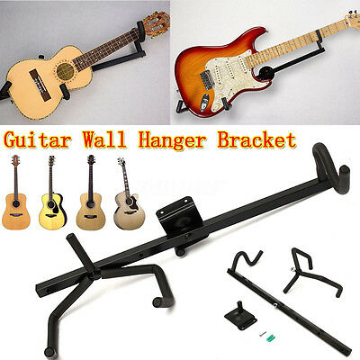Horizontal Guitar Wall Hanger Bracket Display Mount For Electric Acoustic Bass