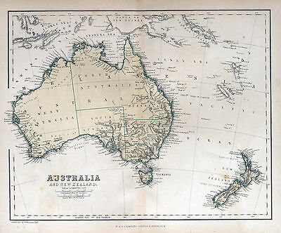 Australia new zealand Vintage Map Print poster paper for glass frame 900mm