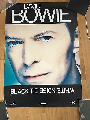 David Bowie Promo Poster Black Tie White Noise